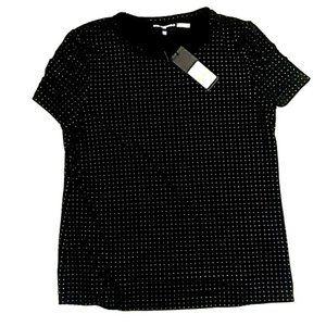 Black Silver Studded Tee Karl Lagerfeld NWT S